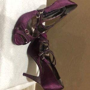 Purple satin Steven by Steve Madden size 7.
